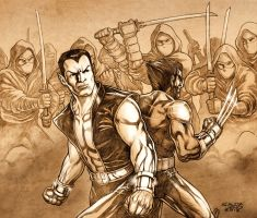 NAMOR and WOLVERINE by JASONS21