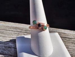 Three stone ring in copper ( mother's ring) by whippetgirl