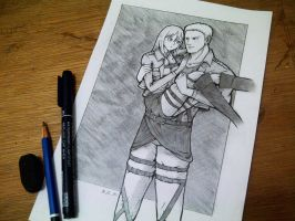 Attack on Titan - Reiner and Christa by Aliza99Izet