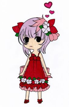 Strawberry Chibi Girl Colored by Maiko-Girl