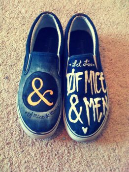 Of Mice and Men shoes by MonteyRoo
