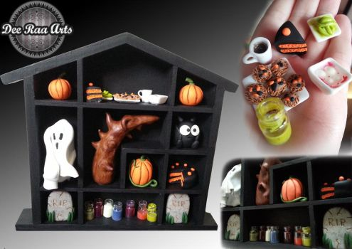 Halloween shadow Box by kirstipoo