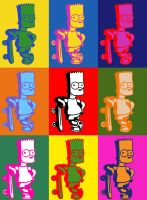 Andy Warhol - Bart Simpson by darklight-photos