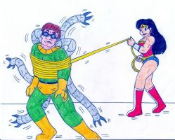 Wonder Woman vs Doctor Octopus by Jose-Ramiro