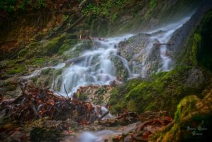 Bad Urach Waterfall by ArkanumTenebrae
