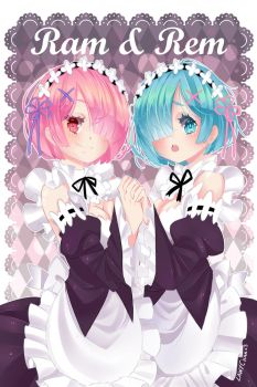 Ram and Rem by lawy-chan