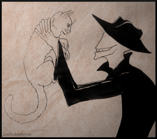 Offenderman and cat by Lunsetta