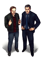 The Trickster and Lassiter by rivertem