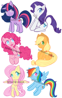 My Little Pony Charm Designs by TehButterCookie