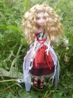 Monster high custom repaint Alice um dress by Rach-Hells-Dollhaus