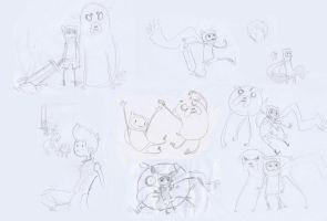 sketchdump: adventure time by frenxi