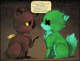 Foxes eat birds by Fax-Grimmin