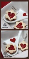 Valentine's Day Jam Cookies Earrings by TwineBirds