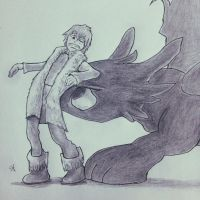 Hiccup and toothless  by sebcol92