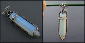 Sea Opal and Sterling Silver by sylva