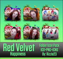 Red Velvet Happiness Folder Icon Pack by Rizzie23