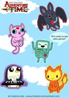 Adventure Time Magnets by Fi3ndish
