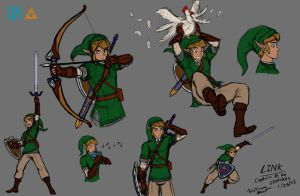 Captain N Reimagined: Link Sketches by NeoLupeTrooper9893