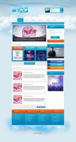 Skypop - Web radio by FloxDesign