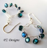 Iridescent Dew Earrings by PurlyZig