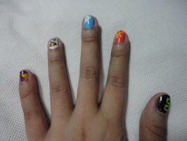 Gintama Nails by blackyuna