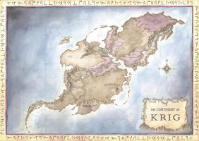 Continent of Krig map by LingonB