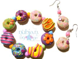 Colourful Donut Set by colourful-blossom