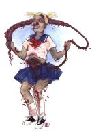 Zombie Child Jumping Rope by locopuff