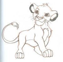 Sketch - Simba by happineff