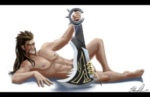 Draven Pinup by Anodesu
