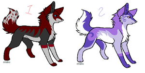 Free wolf adoptables by stitchpunk-10