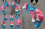 Custom Shisa - Pink/Blue Female by soulofwinter