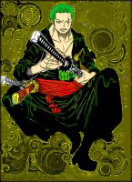 Zoro 2 years by LadyNoa