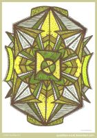 Green Harmony Mandala by Quaddles-Roost