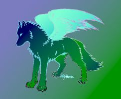 winged wolf by Onewingedsora