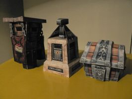 Paper model mailboxes by V-PK