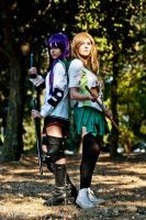 Rei and Saeko - Highschool of the DEAD by GloomyElls