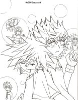 Sora to Roxas Lineart by ttn008