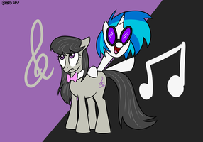 MLP's Musical Duo by MysteryFanBoy718