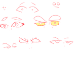 Doodles and eye sketches by TitusTucker