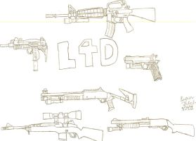 Left 4 Dead 1 weapons by LBFable