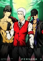 Persona 3 Guys in Dark Hour by Bob-Raigen