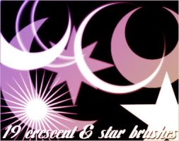 Crescent and Star Brushes by contradictz