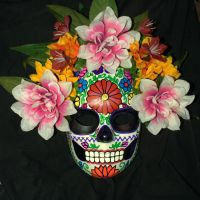 Puebla Embroidery-inspired Calavera Mask by LilBittyFish