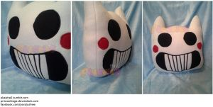 Zacharie Kitty Mask Pillow by PrinceOfRage