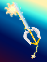 Rising Morning (Celestia Keyblade) by aniamalman