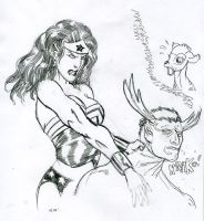 WonderWoman kills Deer deity by JohnsDead