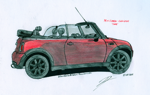 Commission: Mini Cooper Convertible by BlackLeatheredOokami
