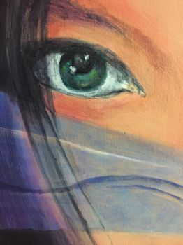 Detail of Bjork painting by Artist-MDS