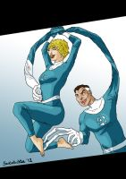 Invisible Woman tickled by Mr. Fantastic by solletickle